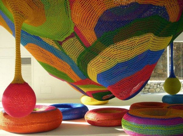 Crochet playgrounds (yes, really)