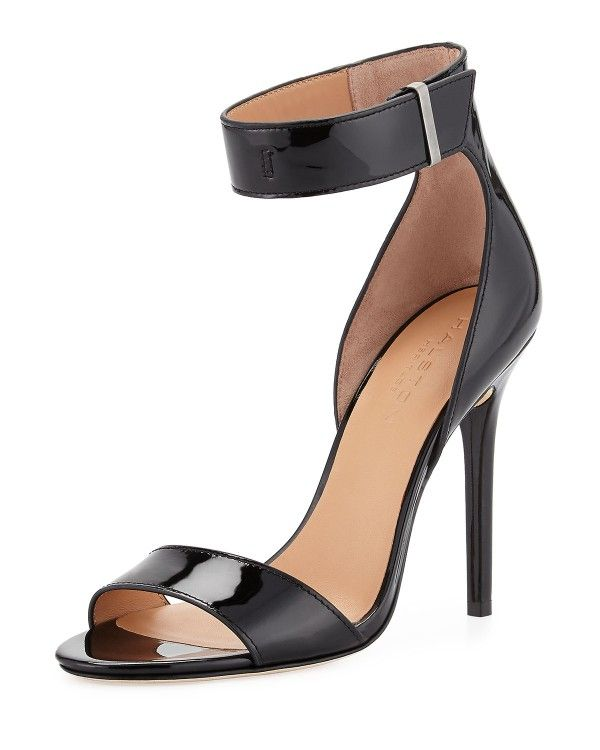 Halston Heritage - Marley Patent-Leather Sandal