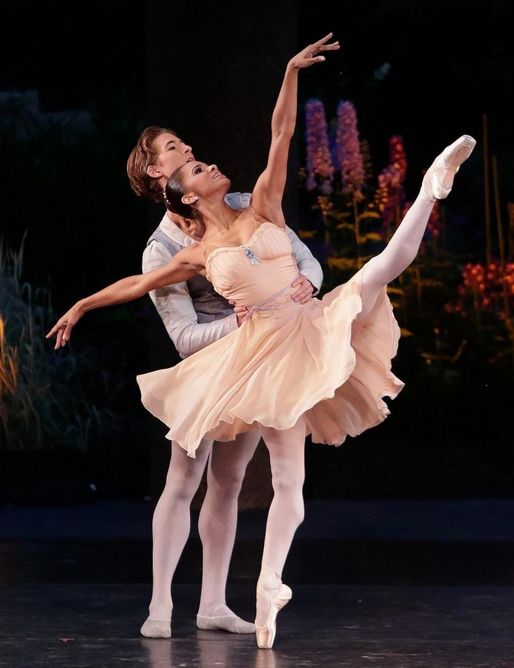 Misty Copeland & Joseph Gordon perform Balanchine's Tschaikovsky Pas de Deux. Choreography © The George Balanchine Trust. Photo © Erin Baiano