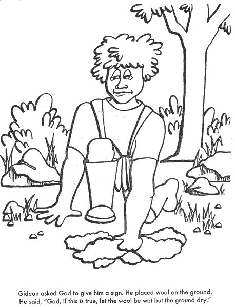 BIBLE COLORING PAGES God Chooses Gideon