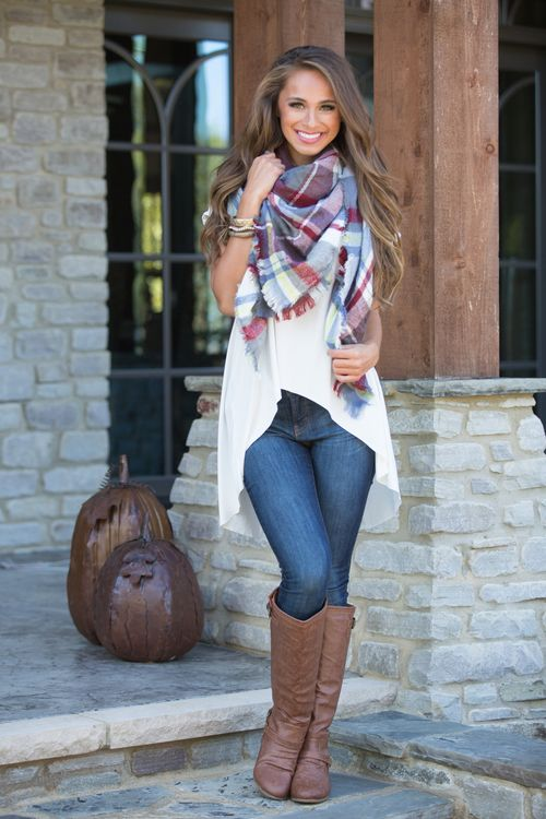 This beautiful plaid blanket scarf is so irresistibly soft - you're sure to love wearing these all season long!
