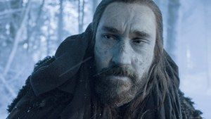 Ned's brother Benjen Stark reappears after almost six seasons as Coldhands to rescue Bran and Meera in Game of Thrones #television #books #asoiaf #bloodofmyblood #GoT #6x06