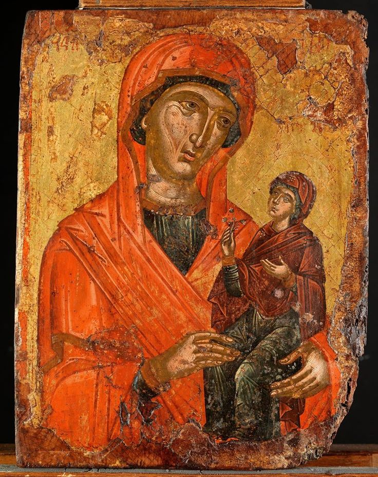 Saint Anna with the Virgin Mary as a little girl , 16ος αι. , from The Museum of Byzantine Culture, Thessaloniki, Greece