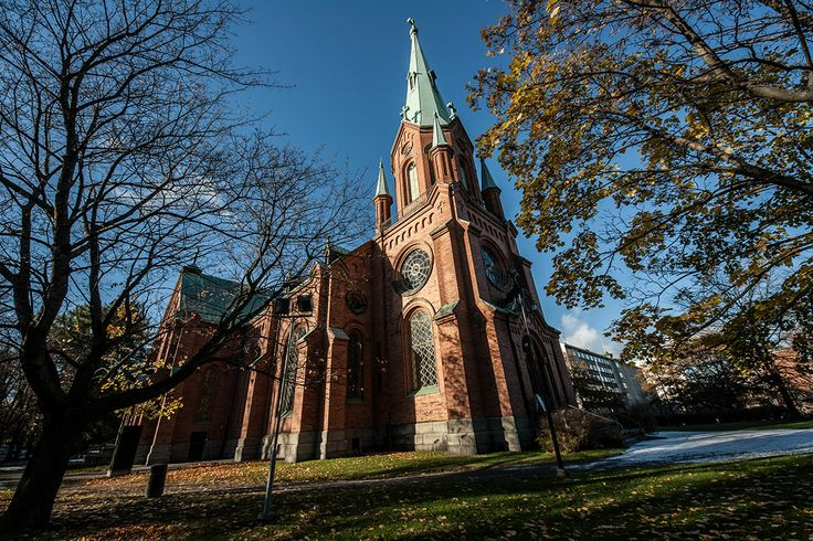 Alexander Church in Tampere was built in 1880-1881 mainly in the Neo-Gothic style, but it has also some other elements. It was severely damaged by fire during the reconstruction in 1937. The altarpiece was painted by Aleksandra Saltin in 1883.