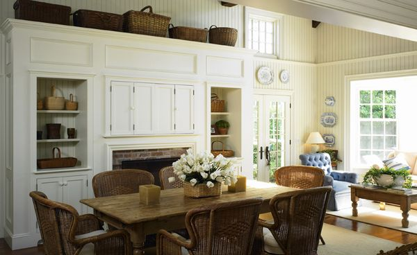 New England Cape Cod Interior | Coastal dining room ...