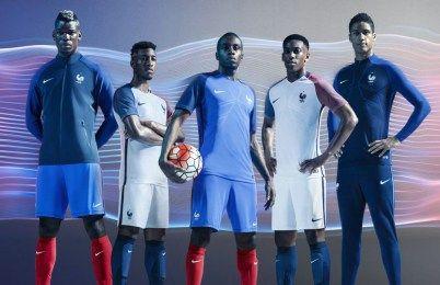 France EURO 2016 Nike Home and Away Kits