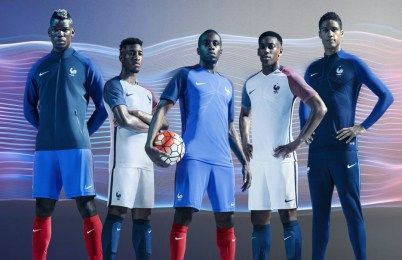 France EURO 2016 Nike Home and Away Kits