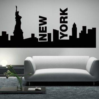 INTERIEURSTICKERS: Een sticker van de grootste en mooiste stad in de wereld.