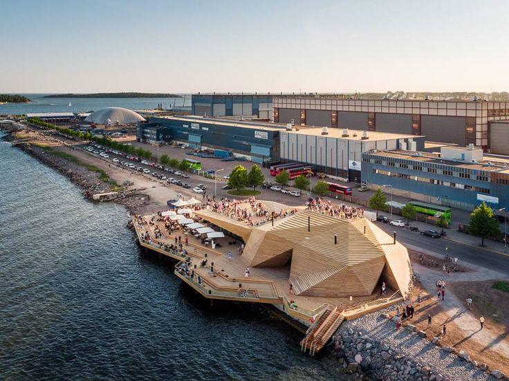 Löyly public sauna in Helsinki, Finland by Avanto Architects. Photo by Kuvio Architectural Photography