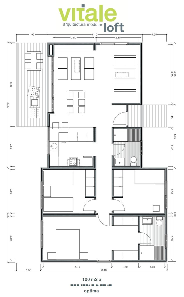 Modelo OPTIMA 100 M2 · Modern House PlansModern ...
