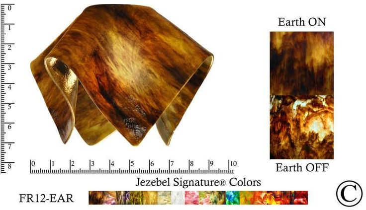 """Jezebel Signature® Small Flame Earth Glass Pendant Replacement Glass Shade, 1 5/8"""" hole"""