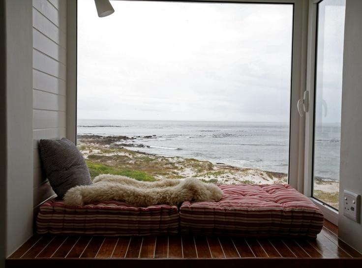 Capetown, South Africa beach house view via jj...