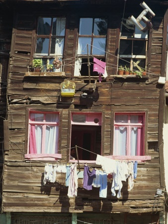 Istanbul old Ottoman wooden house