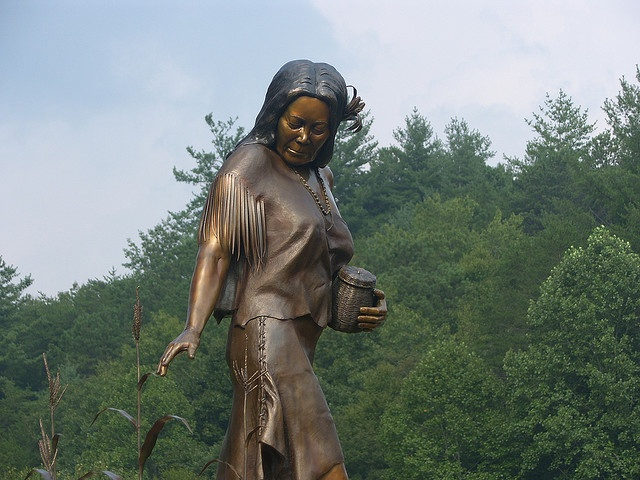 Statue on the Cherokee Indian Reservation