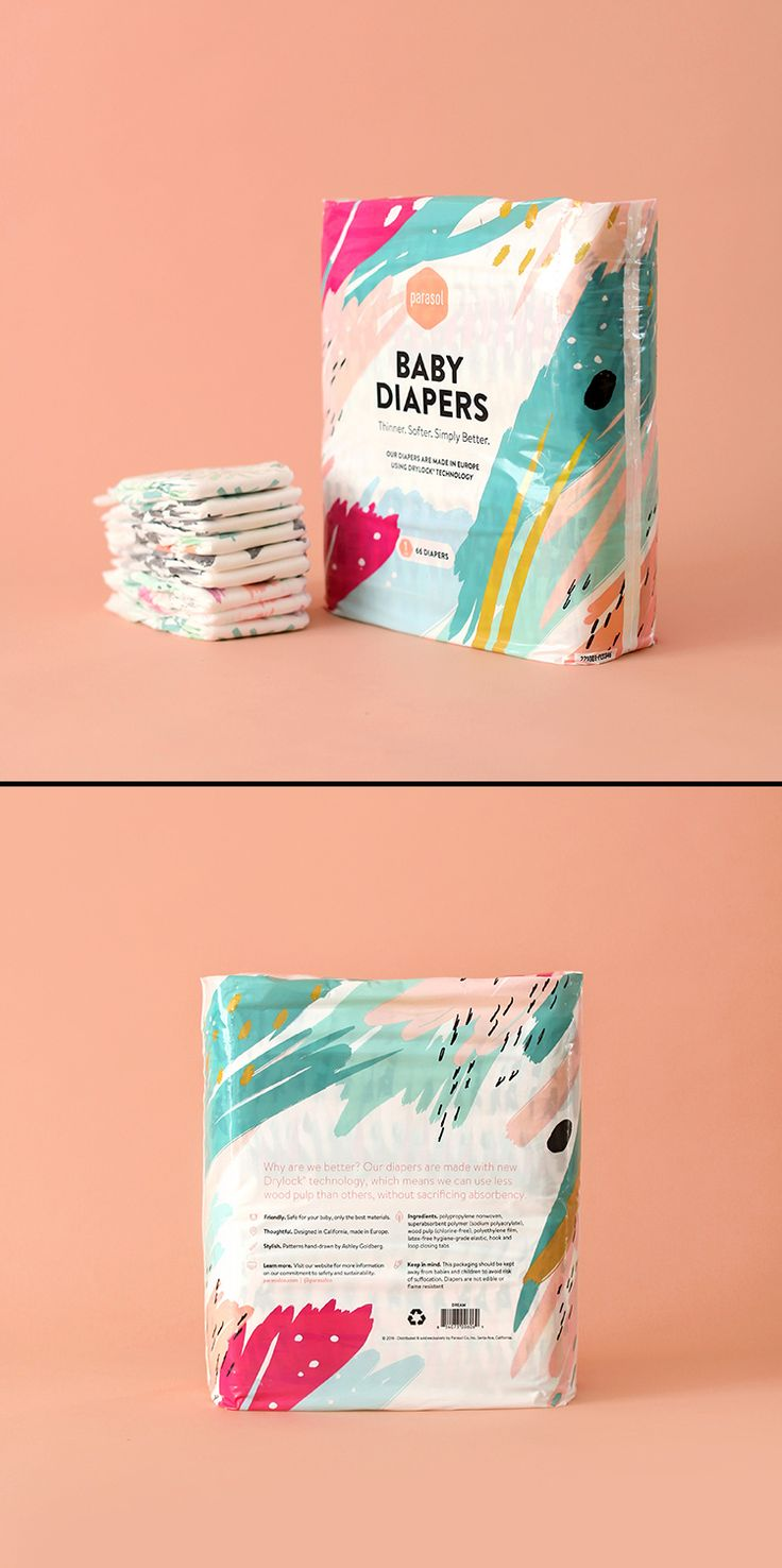 Parasol Co Diaper + Wipes Packaging Design by James Prunean