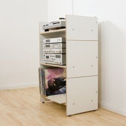 Hifi Shelf hi-fi rack ROADIE II, plywood white