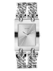 GUESS Women's G75916L Brilliance on Links Silver-Tone Bracel | watches.reviewatoz.com