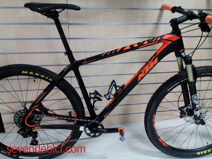 Bicicleta KTM Myroon Master ocasion cuadro carbono talla 21 rueda 29R horquilla Fox 32 con bloqueo en manillar, Grupo Sram X1 Monoplano 1x11V, frenos Shimano Xt M8000, Ruedas DtSwiss 1700, pedales Shimano M520 Impecable estado