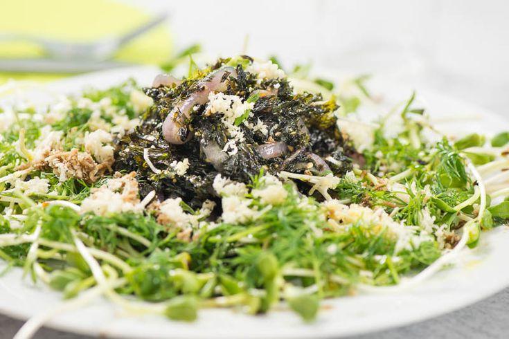 Brynta alger med pepparrot