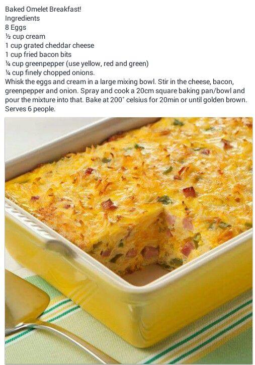 Gebakte Omelet
