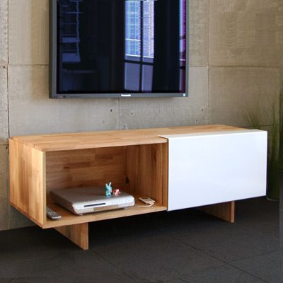 Mash Studios LAX Entertainment Shelf   Incorporates The White Them But Adds  An Element That References Back To The Floor