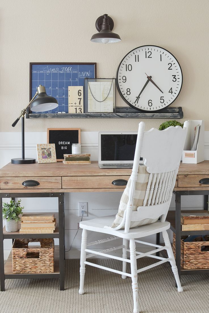Farmhouse Style Home Office Reveal Cheap Office Furniture Home Office Space Home Office Decor