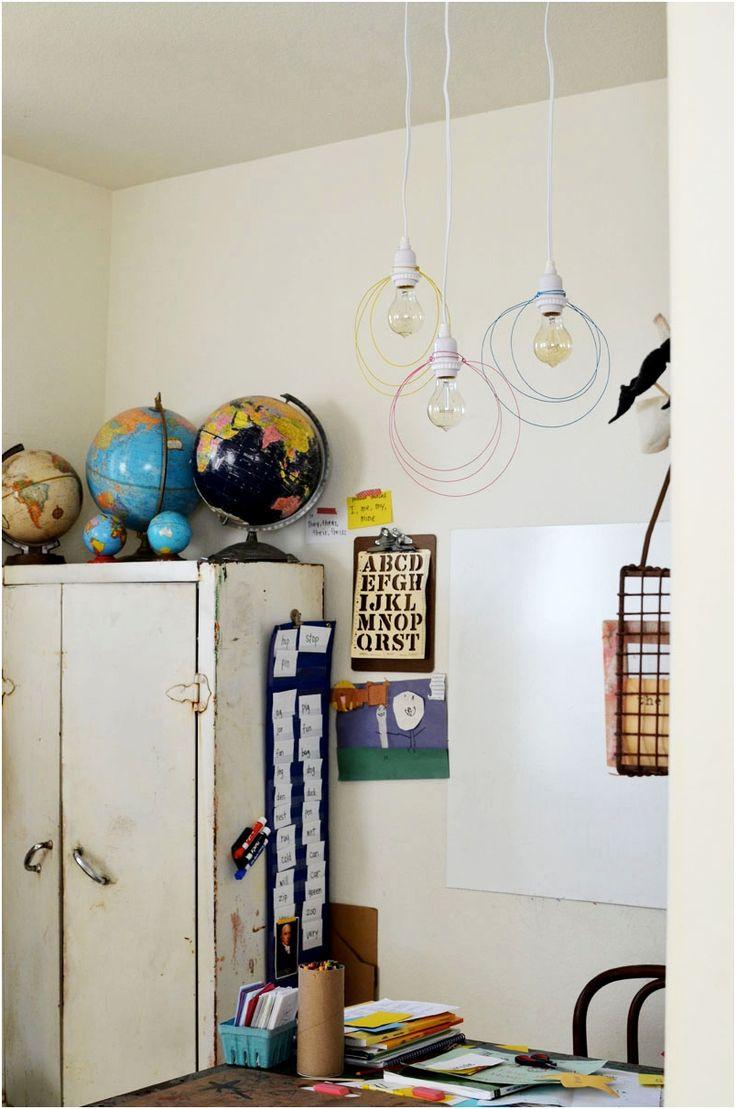 Проволочные люстры для любой комнаты своими руками - Лампа и люстры своими руками