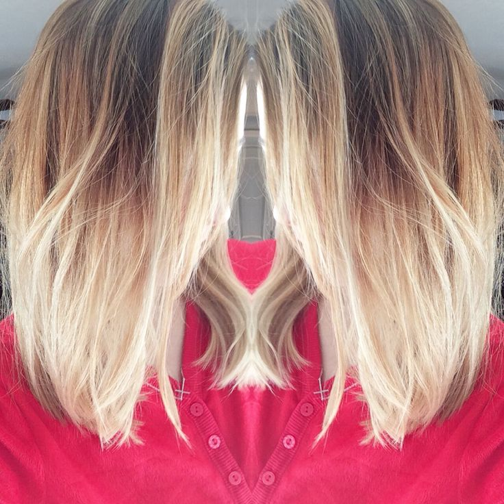 Blonde ombre hair Long bob lob