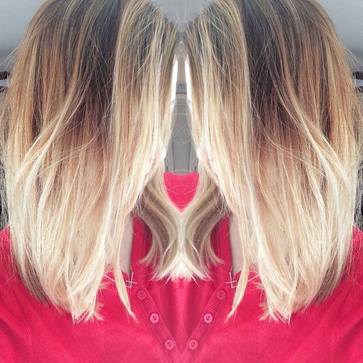 Blonde ombre hair Long bob lob