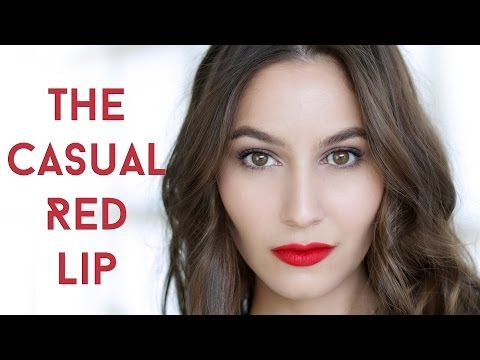 Everyday Casual Red Lip Makeup Tutorial Tutorial - Shameless Fripperies