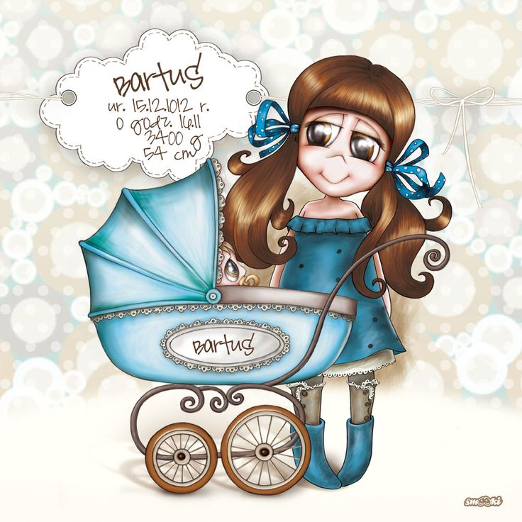 Personalised Birth Print - picture and poster for children - www.smooki.pl