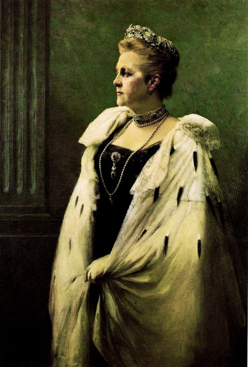 Grand Duchess Olga Constantinovna of Russia , later Queen Olga of the Hellenes (3 September [O.S. 22 August] 1851 – 18 June 1926). Portrait by Georgios Jakobides, 1915