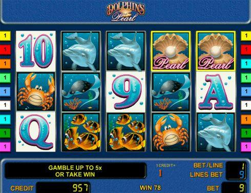 Играть в казино Вулкан на автомате Dolphin's Pearl.  Если вам нравится играть в автоматы на морскую тематику в казино Вулкан, обратите внимание на Dolphin's Pearl. Этот известный игровой аппарат подарит вам реальные деньги и заодно познакомит с обитателями водных глубин. Ег