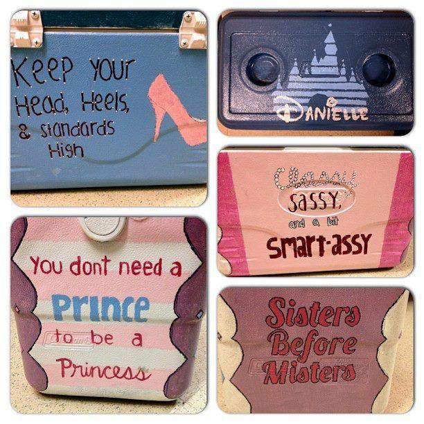 Princess Party ~ Decorations ~ Disney cooler  |  Dress up the cooler