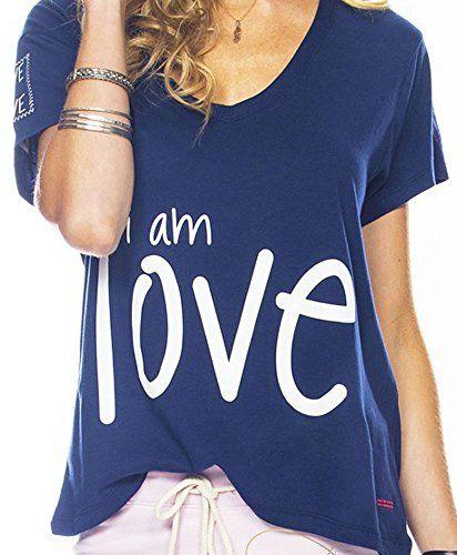 Peace Love World Navy I Am Love V Neck T Shirt Small Peace Love World Http Www Amazon Com Dp Brwyg Refcm_sw_r_pi_dp_nnsubnmsc Pinterest