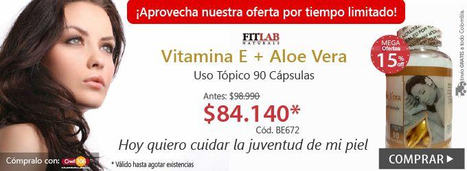 ¡Aún estás a tiempo de comprar, Vitamina E + Aloe Vera FITLAB! Cód.  BE672  Precio: $ 84.140 Ver Producto: http://bit.ly/1ODM2tf