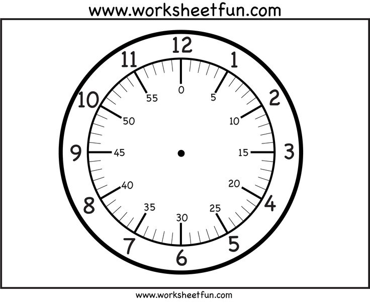 printable clock face printable worksheets teaching clock math clock math classroom. Black Bedroom Furniture Sets. Home Design Ideas