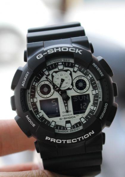 Đồng hồ Casio G.shock GA-100BW-1ADR