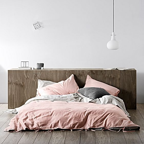 Maison Quilt Cover, Pastel Pink by Aura by Tracie Ellis