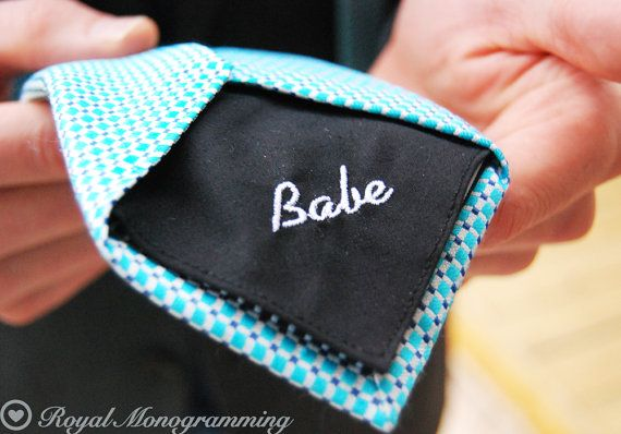 Wedding Tie Patch Monogrammed for the Groom by RoyalMonogramming