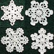 Four Snowflakes - via @Craftsy