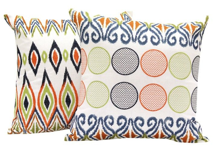 Ethnic inspired printed cushions complimented with delicate over stitching. These beautiful cushions will add texture and colour to lounge or bedroom décor. Material:  Cover:  Polyester,  Fill:  Polyester #homedecorgiftidea http://wamhomedecor.com.au/index.php/bubbles-cushion-3453.html