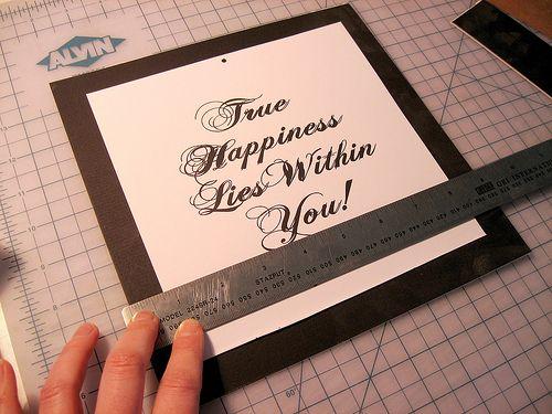 How to make mat frames.......