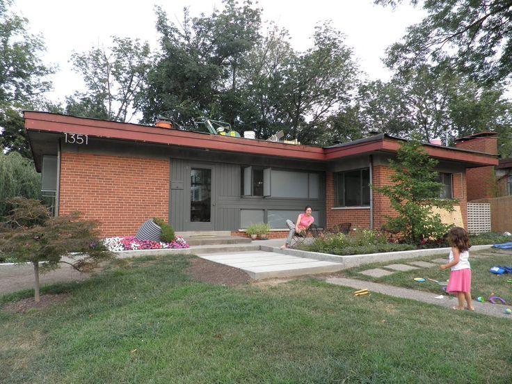 mid century brick ranch exterior colors - Google Search