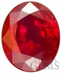 Lovely Deep Red Burma Origin Natural Ruby Faceted Gemstone for SALE, Oval Cut, 1.02 carats $5554