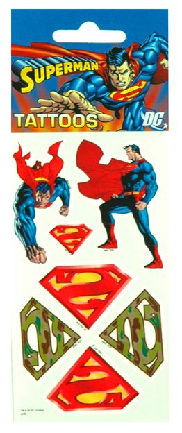 Superman Tattoos and more Superman toys at Funstra