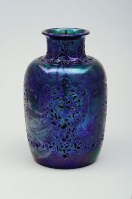 Váza - Zsolnay - kék eozin