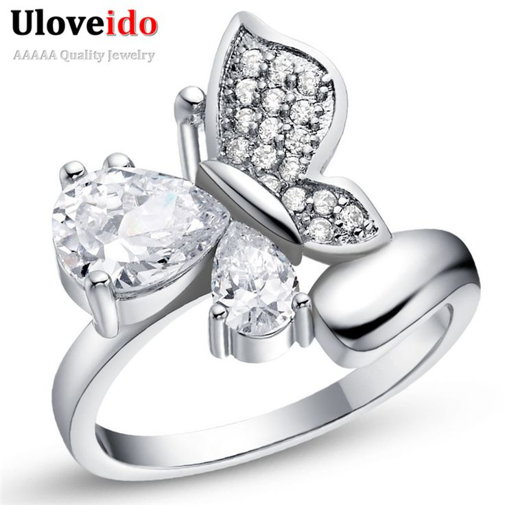 Find More Rings Information about Punk Animals Butterfly Zircon Rings For Women Bague with Stones CZ Gemstone Jewelry Anillos Mujer Joyas Bijouterie Ulove J608,High Quality ring key,China ring grip Suppliers, Cheap ring with black stone from D&C Fashion Jewelry Buy to Get a Free Gift on Aliexpress.com