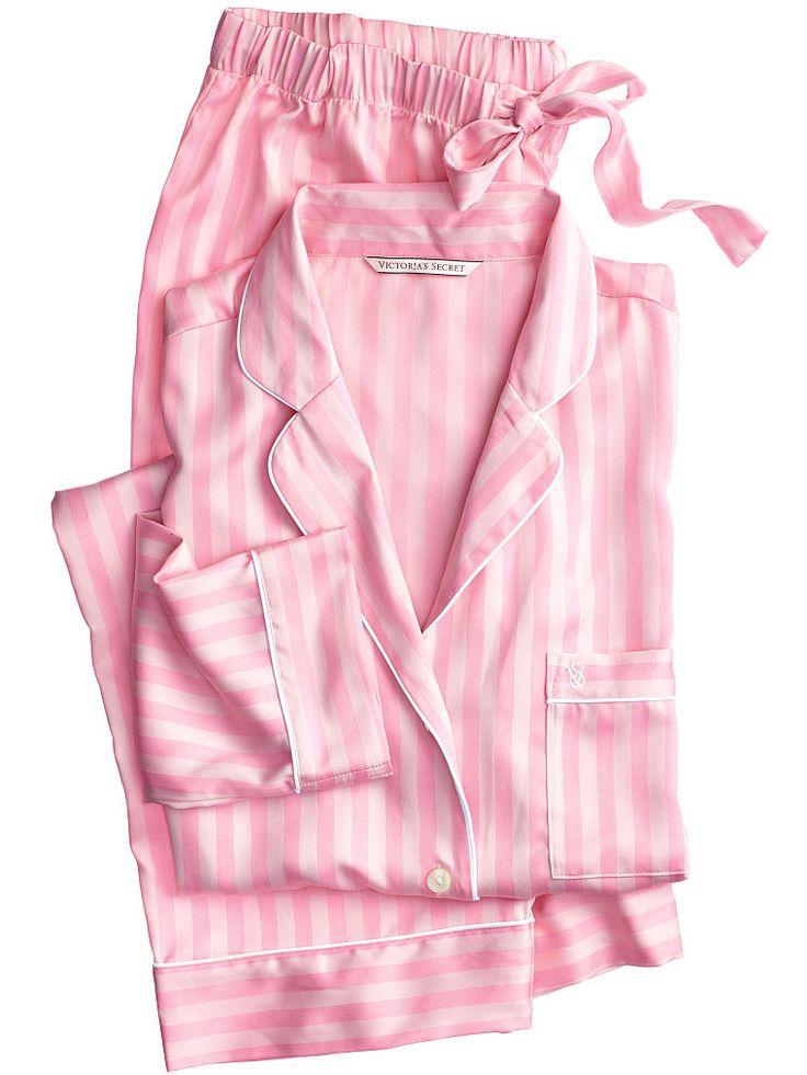 The Afterhours Satin Pajama in Pink Stripe $69.50- Victoria's Secret