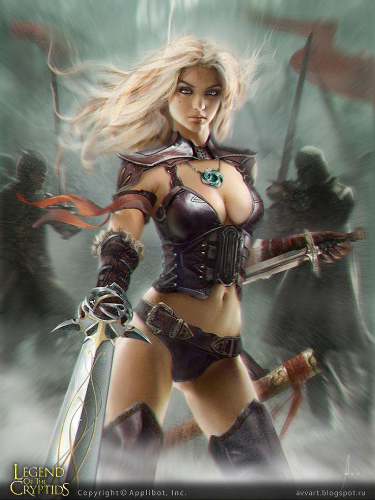 379 best female fantasy charaters images on pinterest - Fantasy female warrior artwork ...